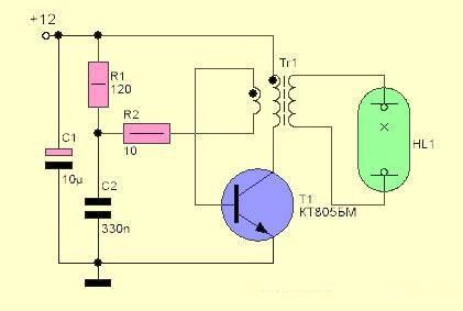блокинг генератор для ЛДС схема