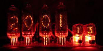 схема электронных часов на лампах